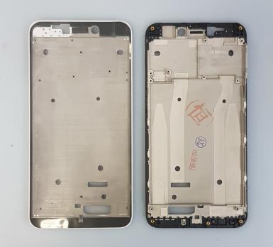 Рамка дисплея (средняя часть корпуса) Xiaomi Redmi 4x, черная