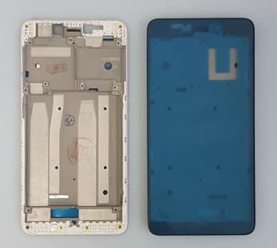 Рамка дисплея (средняя часть корпуса) Xiaomi Redmi 4A, серебро