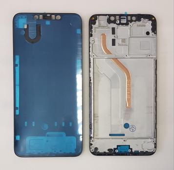 Рамка дисплея (средняя часть корпуса) Xiaomi Pocophone F1, черная