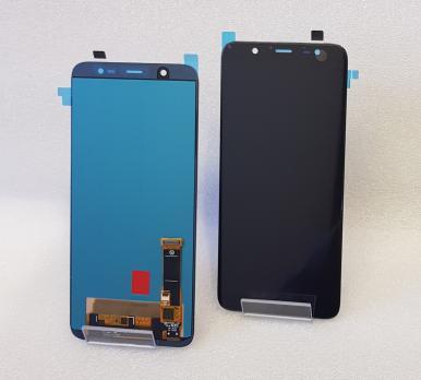 Дисплей с сенсором Samsung Galaxy J8 2018, SM J810, черный, Oled