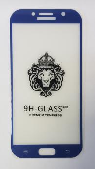 Защитное стекло 5d 9h для Samsung Galaxy A7 2017, SM A720f, серо-синее
