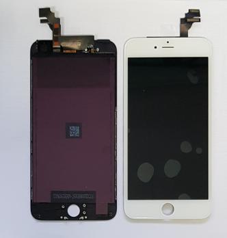 Дисплей с сенсором iPhone 6 Plus, белый, переклеенная матрица
