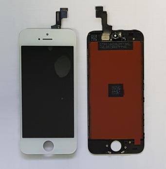 Дисплей с сенсором iPhone 5S, iphone SE, белый, переклеенная матрица