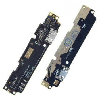 Нижняя плата с разъемом зарядки и микрофоном Xiaomi Redmi Note 2