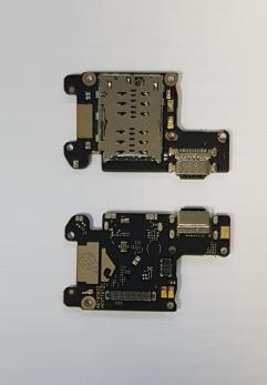Нижняя плата с разъемом зарядки, СИМ-держателем и микрофоном Xiaomi Mi 9t, m1903f11g