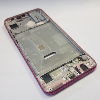 Рамка дисплея (средняя часть корпуса) Huawei Honor 10 Lite HRY-LX1, Honor 10i, HRY-LX1T, розовая