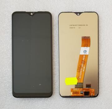 Дисплей с сенсором Samsung Galaxy A01, SM A015F/DS/G, широкий коннектор шлейфа (РСТ), черный