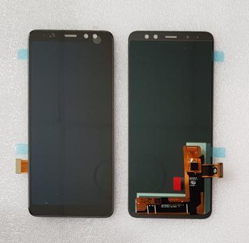 Дисплей с сенсором Samsung Galaxy A8 2018, SM A530F, черный, Oled