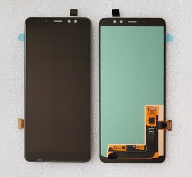 Дисплей с сенсором Samsung Galaxy A8 Plus 2018, SM A730F, черный, Oled