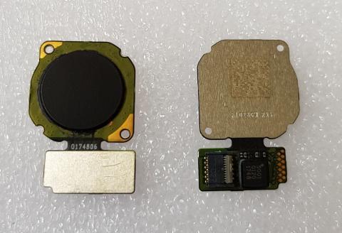 Шлейф со сканером отпечатка пальца Huawei P20 Lite, ANE-LX1, черный