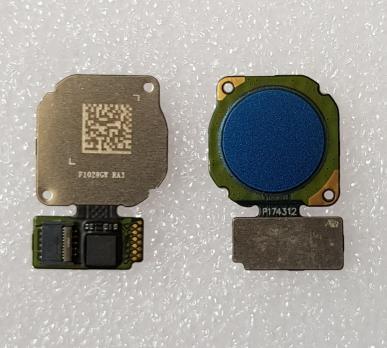Шлейф со сканером отпечатка пальца Huawei P20 Lite, ANE-LX1, синий