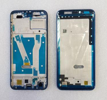 Рамка дисплея (средняя часть корпуса) Huawei Honor 9 Lite, LLD-L31, синяя