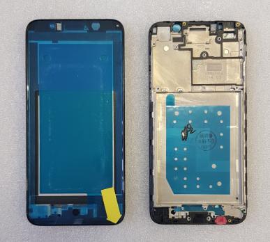 Рамка дисплея (средняя часть корпуса) Huawei Y5 Prime 2018, DRA-LX2, Honor 7A, Y5 Lite, черная