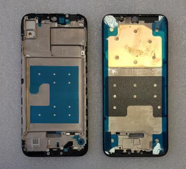 Рамка дисплея (средняя часть корпуса) Huawei Honor 8A, JAT-LX1, черная