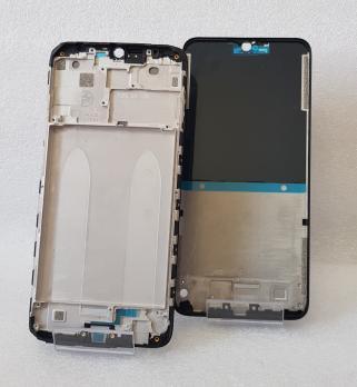 Рамка дисплея (средняя часть корпуса) Xiaomi Redmi 8, m1908c3ic, Redmi 8A, m1908c3kg, MZB8298in, черная