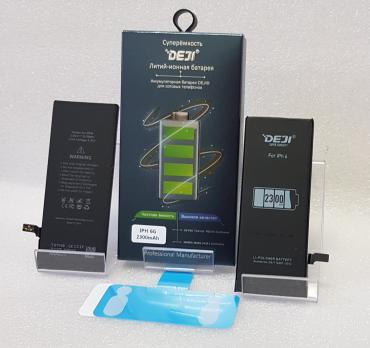 Аккумулятор iPhone 6, (DEJI) 3,82vDC, 2300mAh (увеличенная емкость)