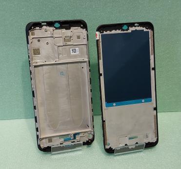 Рамка дисплея (средняя часть корпуса) Xiaomi Redmi 9, m2004J19AG, m2004J19PI, черная
