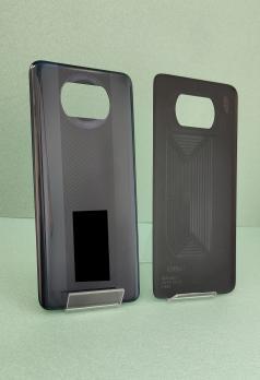 Задняя крышка Xiaomi Poco X3, m2007j20cg, черная