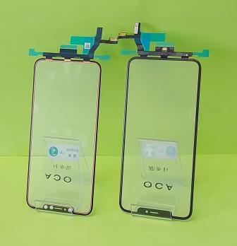 Стекло с тачскрином, рамкой и OCA пленкой iPhone XS Max, черное