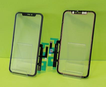 Стекло с тачскрином, рамкой и OCA пленкой iPhone 11, черное