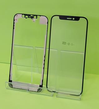 Стекло с рамкой и OCA пленкой iPhone 12 mini, черное