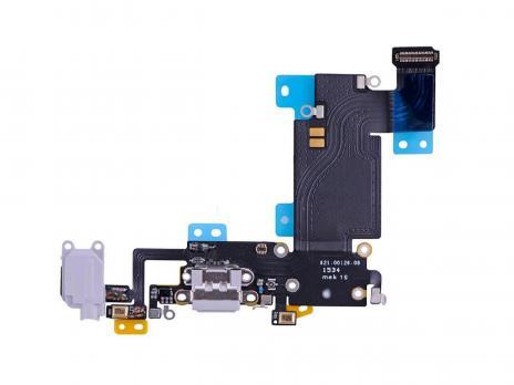 Шлейф с разъемами зарядки и аудио, iPhone 6S, белый