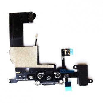 Шлейф iPhone 5 с разъемом зарядки черный