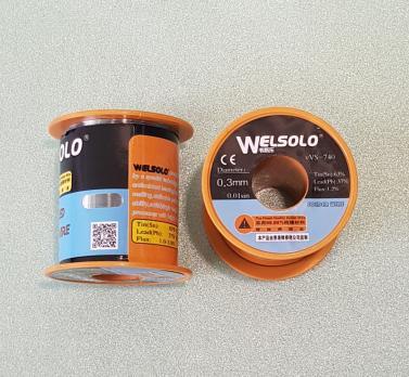Припой с флюсом Welsolo VVS-740, катушка 130 грамм, диаметр 0.3 мм