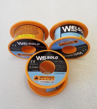 Припой с флюсом Welsolo VVS-740, катушка 40 грамм, диаметр 0.2 мм