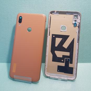 Задняя крышка (корпус) Huawei Y6 2019, MRD-LX1F, коричневая кожа