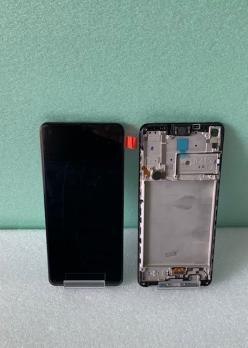 Дисплей с сенсором Samsung Galaxy A21S, SM A217F/DSN, оригинал 100%, в рамке, черный