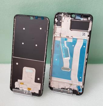 Рамка дисплея (средняя часть корпуса) Huawei Honor 9A, MOA-LX9N, черная