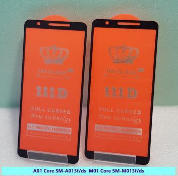 Защитное стекло 5d 9h для Samsung Galaxy A01 Core, SM A013F/DS, M01 Core, SM M013F/DS, черное