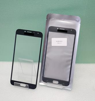 Стекло с OCA пленкой Samsung Galaxy J4 2018, SM J400, черное