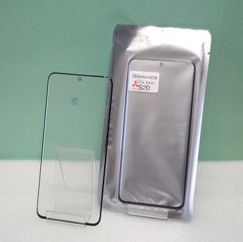 Стекло с OCA пленкой Samsung Galaxy S20, SM G980, черное