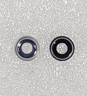 Стекло камеры с рамкой iPhone SE 2020, черное