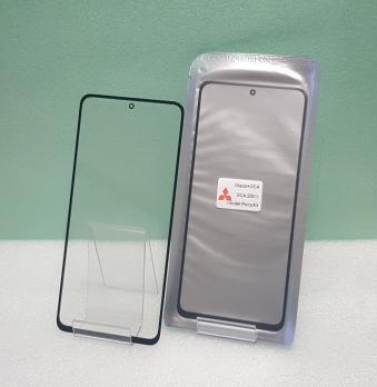 Стекло с OCA пленкой Xiaomi Poco X3, m2007j20cg, Mi 10t Lite, черное