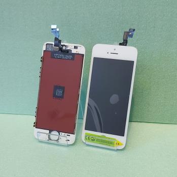 Дисплей с сенсором iPhone 5S, белый.