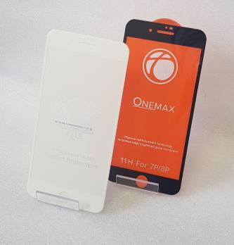 Защитное стекло 5d 9h, для Apple iphone 7 Plus, iphone 8 Plus, белое.