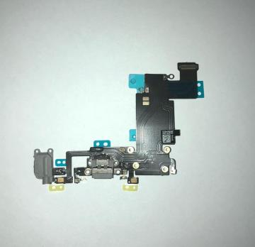 Шлейф зарядки iPhone 6S Plus, серый