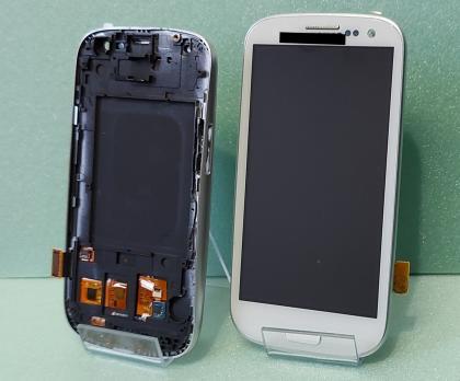 Дисплей с сенсором SAMSUNG Galaxy S3, GT i9300 белый, TFT