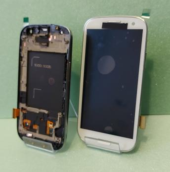Дисплей с сенсором Samsung Galaxy S3 Duos, GT i9300i, белый, Amoled