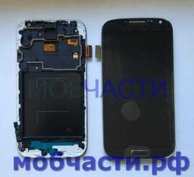 Дисплей с сенсором Samsung Galaxy S4, GT i9500, GT i9505, серо-синий, TFT