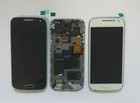 Дисплей с сенсором Samsung Galaxy S4 mini, GT i9190, серый, Amoled