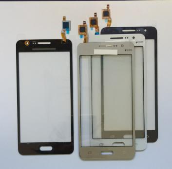 Сенсорное стекло (тачскрин) Samsung Galaxy Grand Prime, SM G531F/H/DS, золотистый