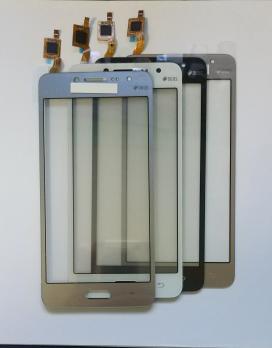 Сенсорное стекло (тачскрин) Samsung Galaxy J2 Prime, SM G532F/H/DS, серебро