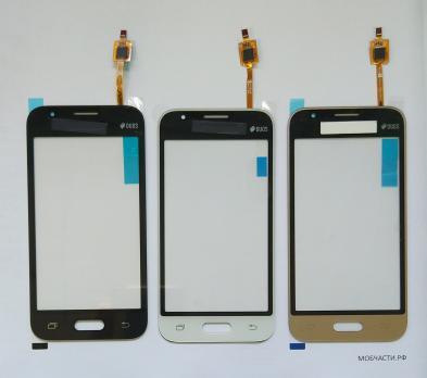 Сенсорное стекло (тачскрин) Samsung Galaxy J1 mini, SM J105, J106, золото